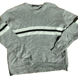 Brandy Melville Gray Rugby Stripe Sweater